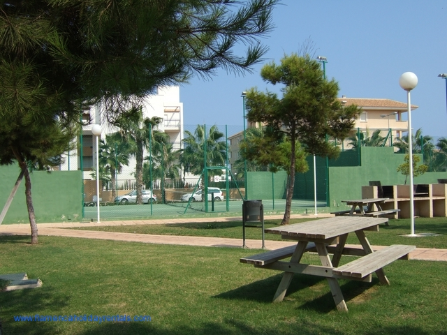 BBQ area and tennis courts